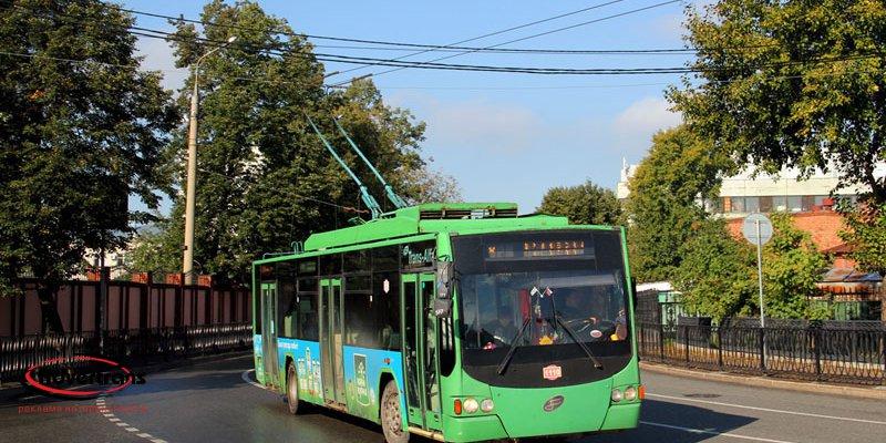 Реклама на трамваях и троллейбусах в Краснодаре